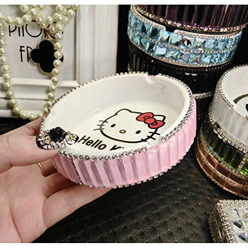 Yilan Aschenbecher, kreativ, modisch, Persönlichkeit, süßes koreanisches Mädchen, für Zuhause, Wohnzimmer, Ornamente Rosa/Katze