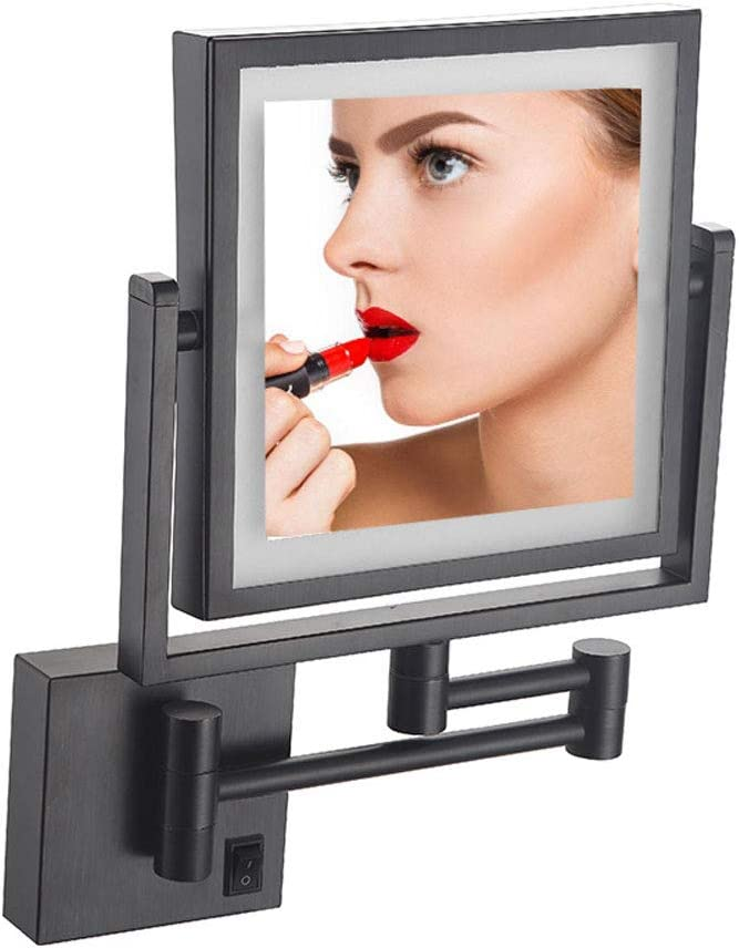 Max 57% OFF LFSTY free shipping Makeup Mirror Wall Black Lighted Mount