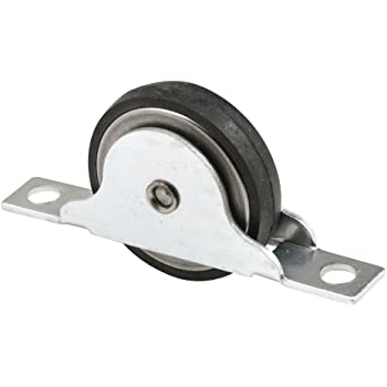 Pack of 2 Slide-Co 16772 Closet Door Roller with 1-3//8-Inch Steel Center Grooved and Ball Bearing Wheel,