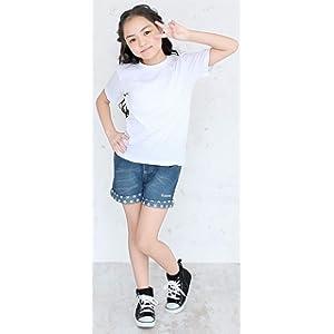 (コンバース)CONVERSE デニム ショートパンツ キッズ服 子供服 女の子【v8208】130cm ブルー