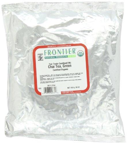 Frontier Chai, Green Tea Certified Organic Fair Trade Certified, 16 Ounce Bag