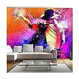 Michael Jackson Dancing Photo Wallpaper Mural de pared Muisc Celebrity Poster Decoración 260x175cm