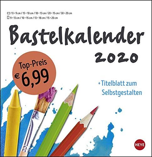 Bastelkalender weiß groß. Bastelkalender 2020. Monatskalendarium. Spiralbindung. Format 32 x 33 cm
