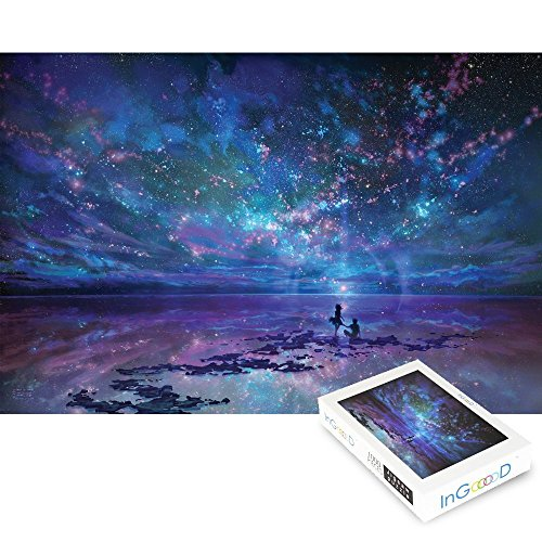 Ingooood Jigsaw Puzzles 1000 Pieces- Imagination Series Fantasy Romantic Star Sea