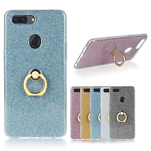 MINGYOUNG Premium Funda Compatible con HTC One M9 Plus/M9+,Funda de TPU Suave Brillante,Soporte Giratorio,Soporte,Funda Trasera a Prueba de Golpes (Azul)