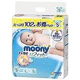 【Amazon.co.jp 限定】ムーニー テープ S(4~8kg) エアフィット 102枚