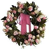 perfeclan Künstliche Blumen Kranz für Haus Büro Hotel Restaurant usw. Größe: 35 cm