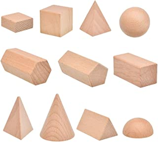 3D Shapes Miniature Set mathematics educational toy,Montessori Wooden Three dimensional Geometric model teaching aids