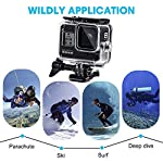 Waterproof Housing Case for GoPro Hero 8, 60M Diving Protective Housing Shell for Gopro Hero 8 Black Action Camera… 13 196FT/60M Gopro 8 Diving Case: Designed with waterproof seal and tightened buckle, REDTRON waterproof housing shell helps to prevent to water leakage effectively. You can use your Gopro Hero 8 to record underwater activities up to 196FT/60M without worrying about the leakage. HD Scratch-proof & Clear Shooting Underwater: The lens of Gopro 8 underwater photography housing is made of ultra-thick transparent tempered glass with with high light transmission which protect your Gopro 8 lens from being scratched and provides you a good shooting results. Upgraded Quick Release Buckle Mount: REDTRON protective housing case for Gopro 8 comes with a quick release buckle mount with 2 type screws. You can attach your Grpro 8 black to accessories such as tripod, bicycle mount, suction cup mount. (Note: accessories are NOT included)