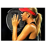 Maria Sharapova Raquette Tennis Sport-Print Soie Art Wall Poster Home Decor Wall Art Poster Picture Artwork print on canvas -60x80CM no frame