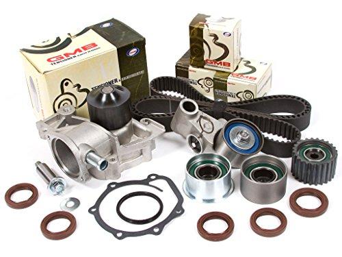 Evergreen TBK304WPT Compatible With 99-05 2.2L & 2.5L Subaru Non-Turbo SOHC EJ22 EJ25 Timing Belt Kit Water Pump