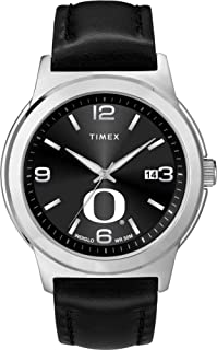Timex Men's University of Oregon Ducks Watch Black Leather Band Ace