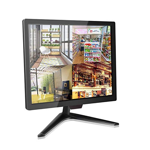 17 inch Security Monitor, Cocar Security Monitor Screen, LCD CCTV Display for Home Security Systems Surveillance Camera STB PC, 1280x1024 Vesa Wall Mount Built-in Speaker, BNC/VGA/HDMI/Audio in&Out