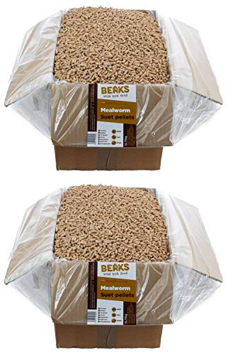 BEAKS wild bird food MEALWORM suet feed pellets 25kg Box free pp