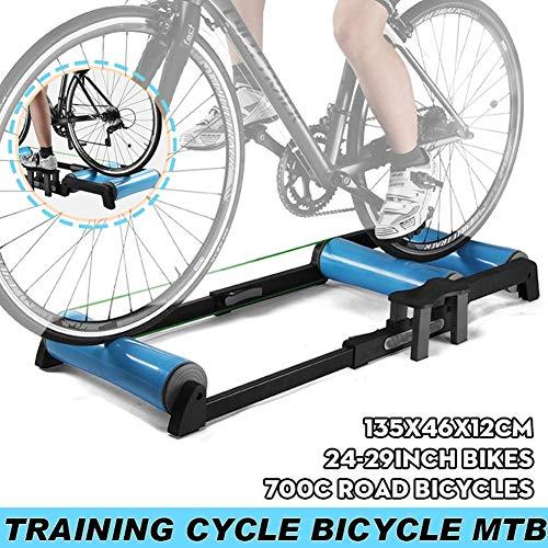 MYBW Rodillo Bicicleta Carretera, Rodillo Bicicleta Montaña, Rodillo Rulos Interior MTB Trainer Ciclismo Carretera Rodillo Estación Bicicletas Ejercicio Aptitud del Ejercicio Máquina