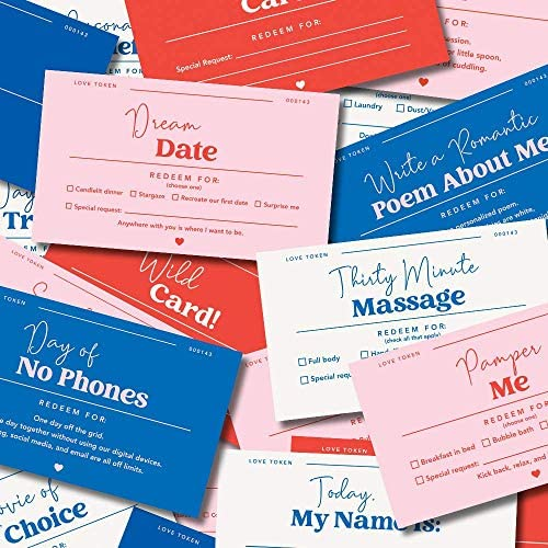 20 Fun and Romantic Love Coupons Vouchers for Him Her Husband Wife Boyfriend Girlfriend and product image