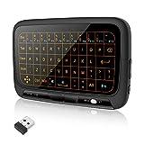 welltop Mini teclado inalámbrico con Touchpad 2,4 GHz recargable completo Touchpad Ratón Combo inalámbrico Backlit Inglés Layout Teclado para Android TV Box, Projector, IPTV, HTPC, PC portátil