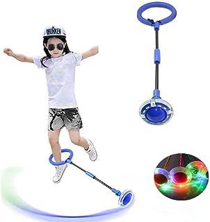 Moonmoonlala - Bola de balanceo intermitente - Anillo de salto con luces LED coloridas para deportes de tobillo plegable intermitente bola de balanceo de fitness Jump Toy Ball Juegos para niños y adultos