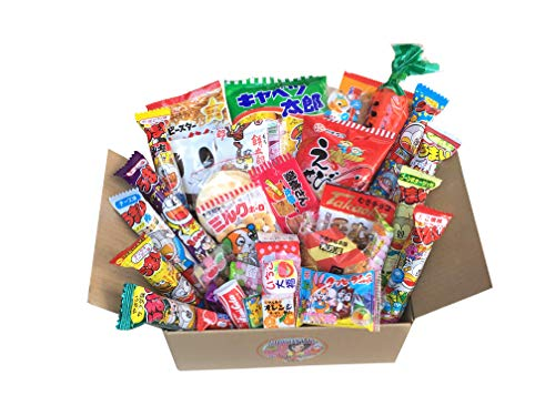 GIFT Japanese Snack Assortment 35 pcs of 27 types Full of 'DAGASHI', OHIMESAMA Snack Selection (2nd version) with OHIMESAMA Sticker and Soft Candy
