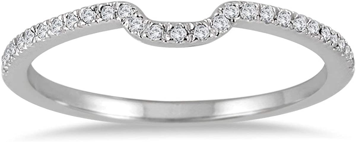 1 8 Carat TW Choice Diamond Beauty products Wedding 14K Band in Gold White