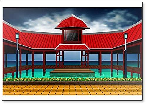 Kühlschrankmagnet, Motiv: Japanischer Pavillon im Meer