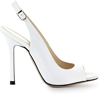 Luxury Fashion | Marc Ellis Women MA5042WHITE White Leather Heels | Season Outlet