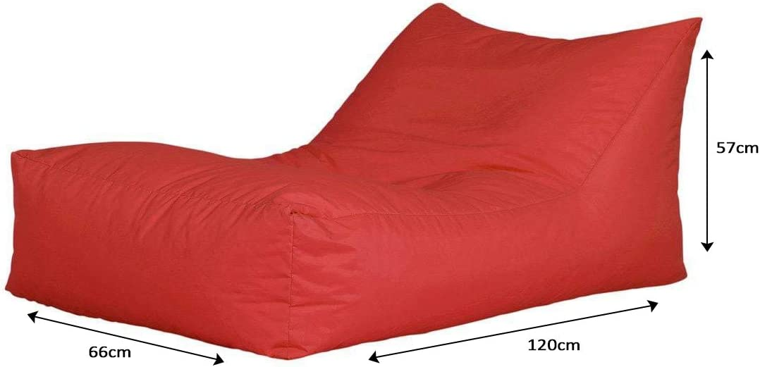 120 x 66 x 57 cm Brown Bonkers Polyester Relaxer Bean Bag Water Resistant with Beans Filling 1-Piece