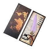 Z.L.FFLZ Pluma de la Escritura Feather Quill Pen Set Dip Ink Bottle en Caja de Almacenamiento de Regalo con 5 Puntas adicionales (Color : 04, Size : Gratis)