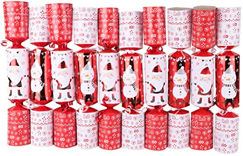 Toyland Pack of 10 Snowman & Santa Christmas Party Favors - Christmas Tree Decorations