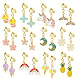 Hifot 12 Paare Clip Ohrringe Mädchen Prinzessin Kinder Ohrclips Set, Prinzessin Kleid Geburtstag...