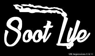 UR Impressions Soot Life Decal Vinyl Sticker Graphics for Diesel Cars Trucks SUV Vans Walls Window Laptop|White|6.5 X 4 Inch|URI080