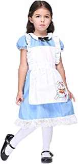 Girls Alice in Wonderland Fancy Dress Party Rabbit School Halloween Costume