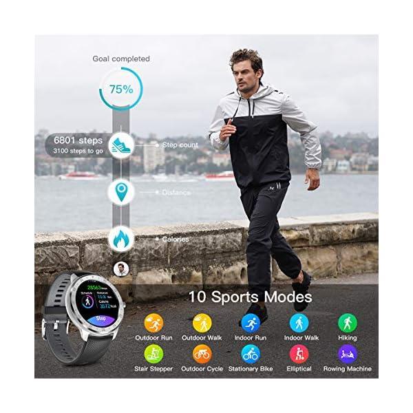 CanMixs Smartwatch, Reloj Inteligente IP67 Pulsera Actividad Hombre y Mujer, CM13 Deportivo Reloj Fitness con Pantalla… 5