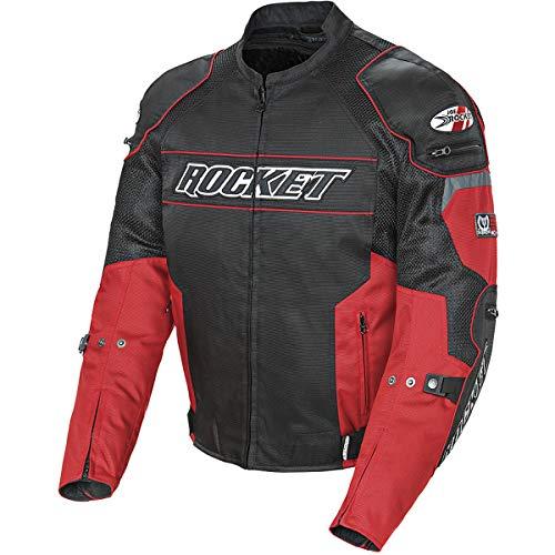 Joe Rocket 1460-1106 Resistor Men's Mesh Motorcycle Jacket (Red/Black, XX-Large)