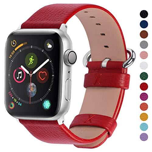 Fullmosa kompatibel mit Apple Watch Armband 38mm in 15 Farben für iWatch Serie 5/4/3/2/1,Rot 38mm