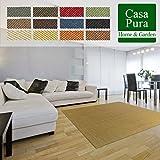 casa pura Tapis de Salon Sylt | Fibres Naturelles 100% Sisal | Nombreuses Tailles et Couleurs | Dos Antidérapant - Nature, 80x150cm