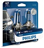Philips H7 Vision Upgrade Headlight Bulb with up to 30% More Vision, 2