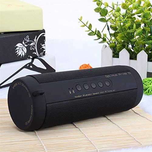 Kaper Go Schwarz Bluetooth Musik-Subwoofer wasserdichte bewegliche im Freien LED drahtlosen Säulenlautsprechern TF-Karte FM-Radio AUX-Eingang