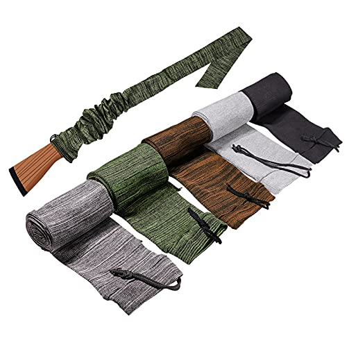 """Frantie 5pc Gun Socks Case Sleeve, 54"""" Widened Rifle Gun Sock, Suitable for Rifles with Scopes Protection Accessories (Mix Color)…"""