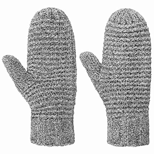 Seeberger Tajana Soft Fäustlinge Fausthandschuhe Strickhandschuhe Damenhandschuhe (One Size - grau-meliert)