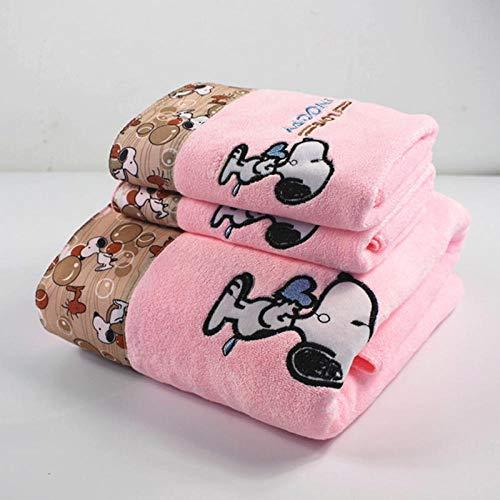 LYLEQ toallas de baño Toalla de fibra de tres piezas de absorción de agua suave y de secado rápido hogar adulto puede envolver grande lindo