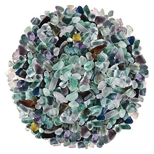 Natural Mix Color Undrilled Fluorite Polished Gravel Stone Irregular Shaped Rocks
