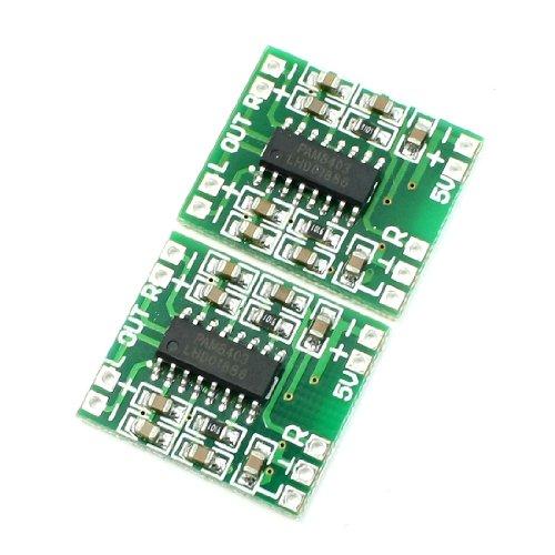 sourcing map Supermini PAM8403 2 * 3W klasse D Digitale versterker Board 2.5-5V USB Power 2PCS de