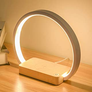 OSALADI Desk Lamp Wireless Phone Charging Lamp LED Circle Light Dimmable Desk Light Adjustable Office Light for Reading St...