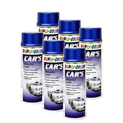 DUPLI_bundle 6X Dupli-Color Cars Metallic Lack Spray azurblau 400 ml 706837