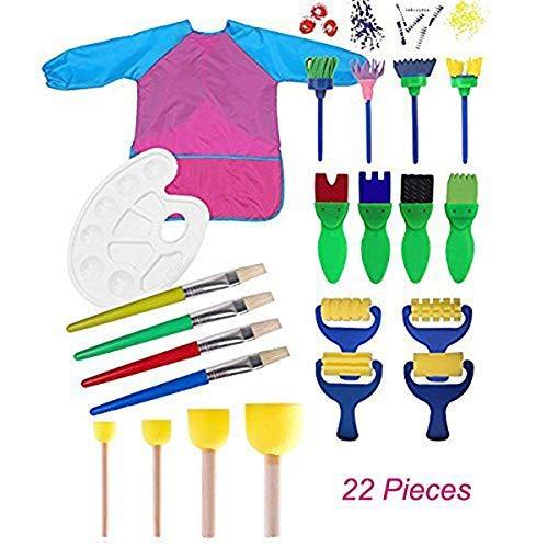 MIMINUO Juego infantil de herramientas de pintura para aprender a hacer manualidades,...