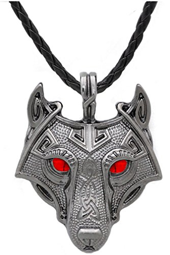 Youe shone Norse Viking Pendant Necklace Norse Wolf Head Necklace Original Animal Jewelry Wolf Head hang
