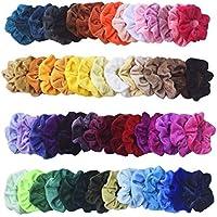 54-Piece Mcupper Scrunchies Velvet Elastic Hair Bands