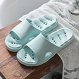 QPPQ Piscina Chanclas,Zapatillas de Verano para Hombres y Mujeres, Sandalias de baño Antideslizantes.-Cielo Azul_37-38,Zapatillas de Ducha para