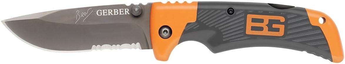 Folding Knife, Serrated, Drop Point, 3-5/16